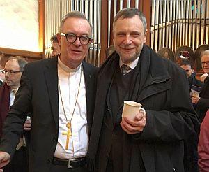 Landesbischof Dr. July und Pfarrer Dr. Hahn